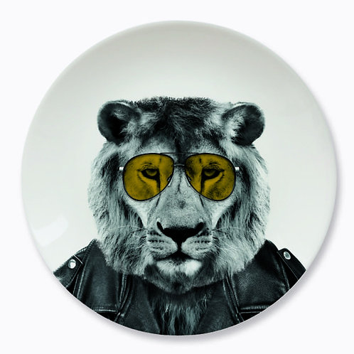 ASSIETTE  23 CM LARY LION JUST MUSTARD