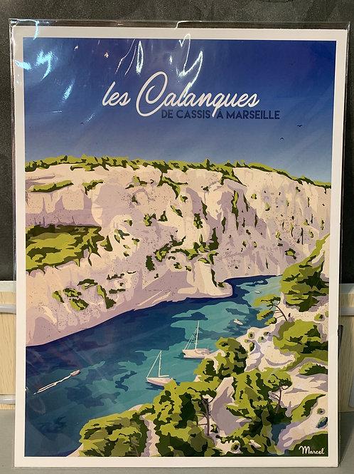 Affiche Marcel de CASSIS 30x40cm
