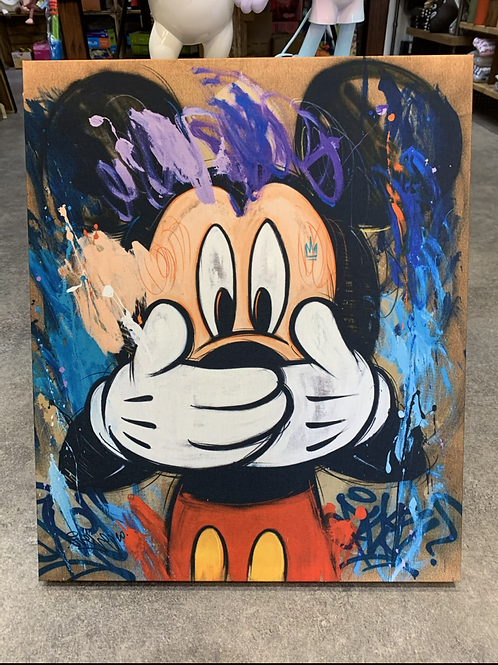 Tableau Mickey OUPS 60x50cm