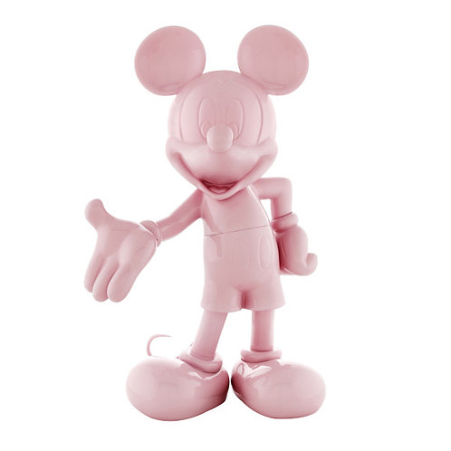 FIGURINE MICKEY WELCOME LAQUÉ ROSE