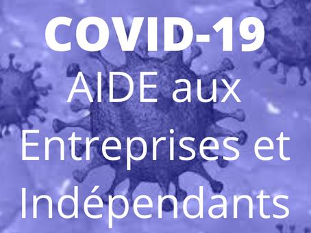 COVID-19: Mesures de soutien aux entreprises et indépendants