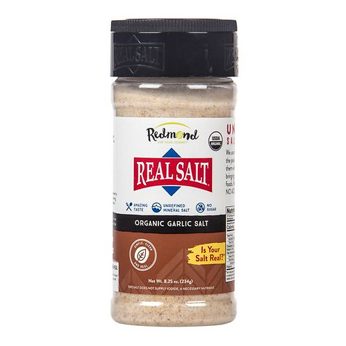 Real Salt Organic Garlic Salt - 4.75 oz