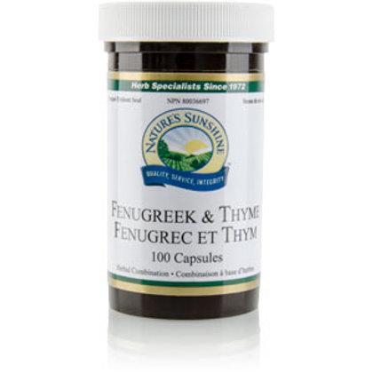 Fenugreek & Thyme (100 Caps)