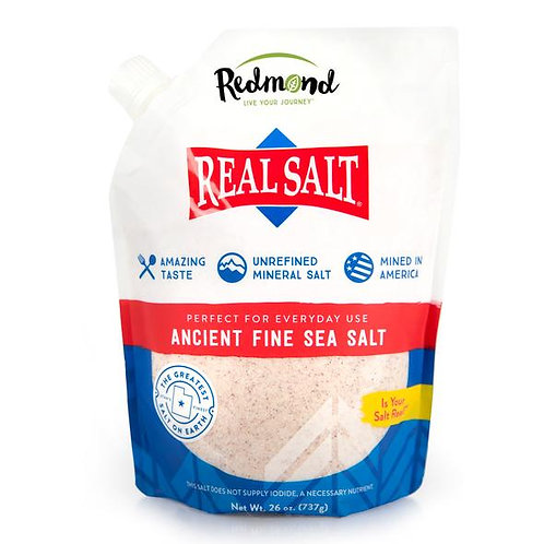 Real Salt Fine Refill Pouch (26 oz. / 737g)