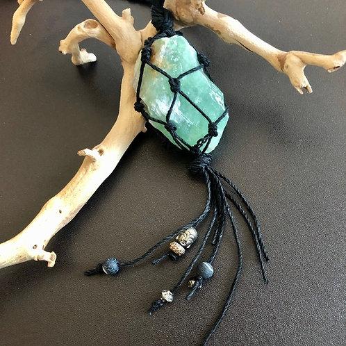 Green Calcite Gemstone Necklace / Ornament