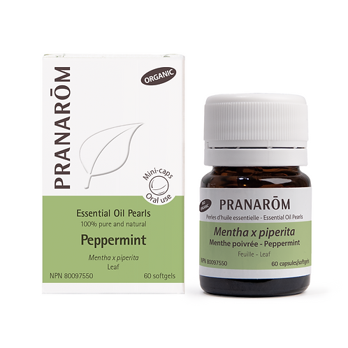 Peppermint Essential Oil Pearls - 60 softgels