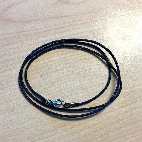 """Cotton Cord Necklace Chain 18"""" - Black"""