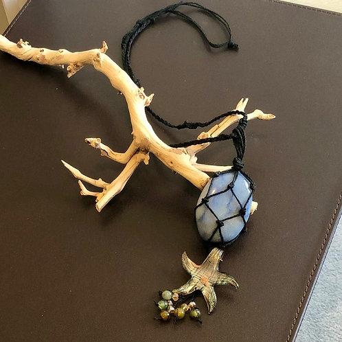 Blue Quartz Gemstone Necklace / Ornament