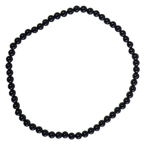 Black Onyx 3mm Small Round Bracelet