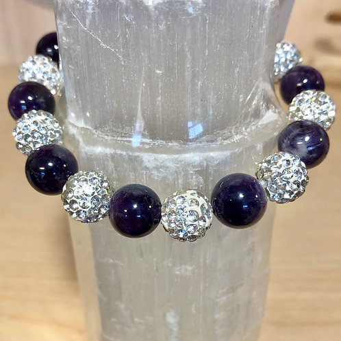 Amethyst Round Sparkle Bracelet