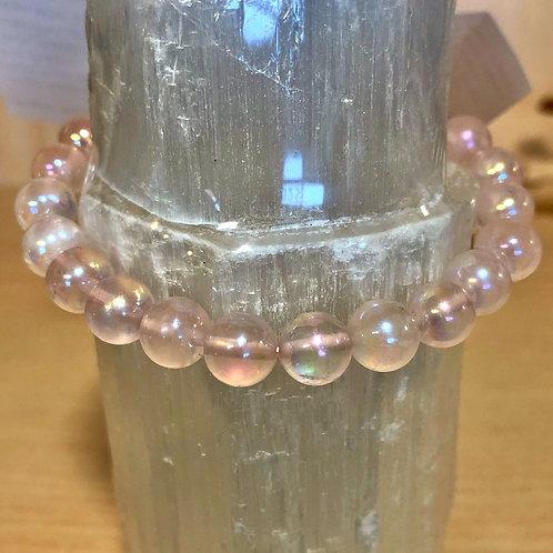 Angel Aura Rose Quartz Bracelet