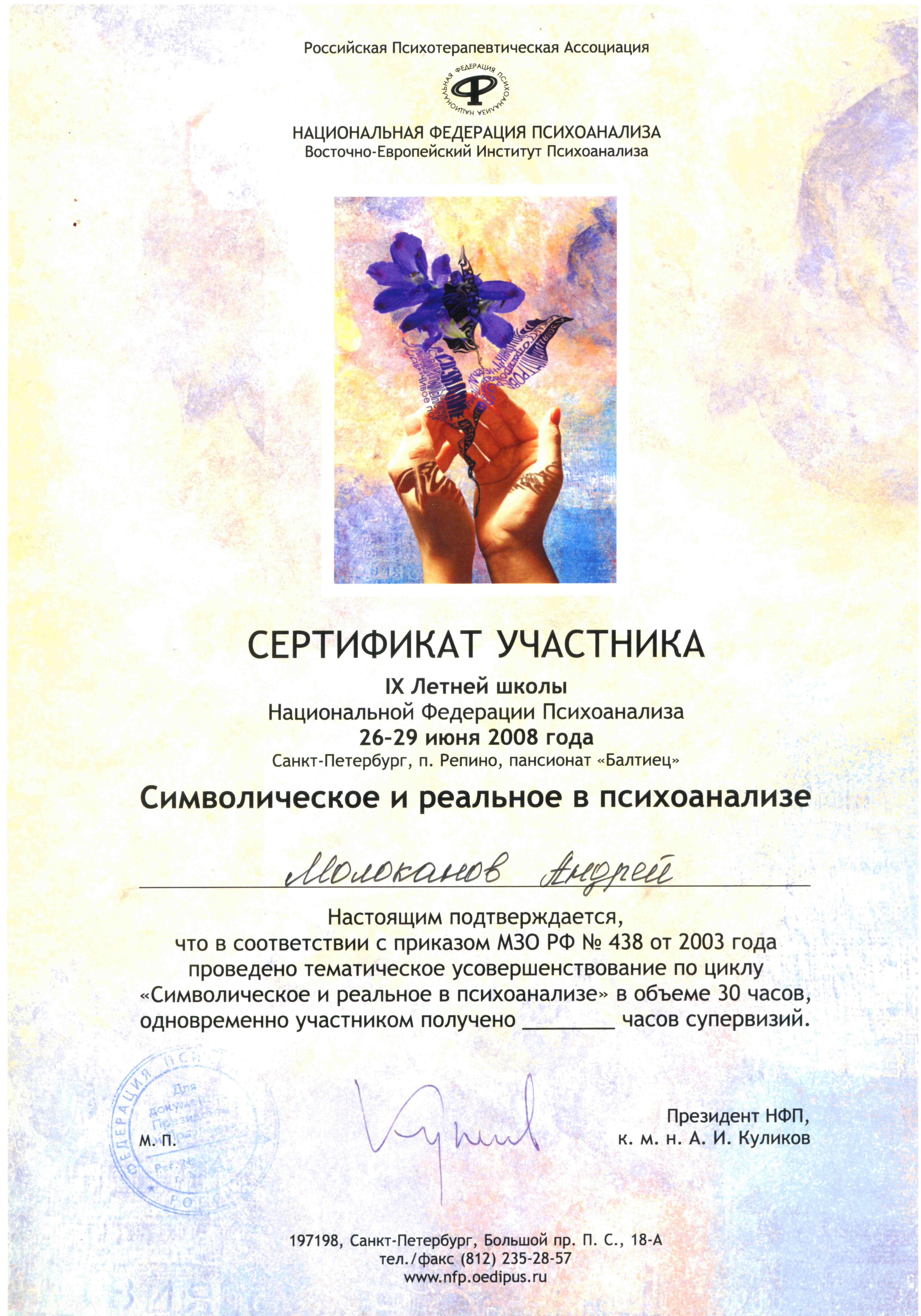 IX Летняя школа НФП