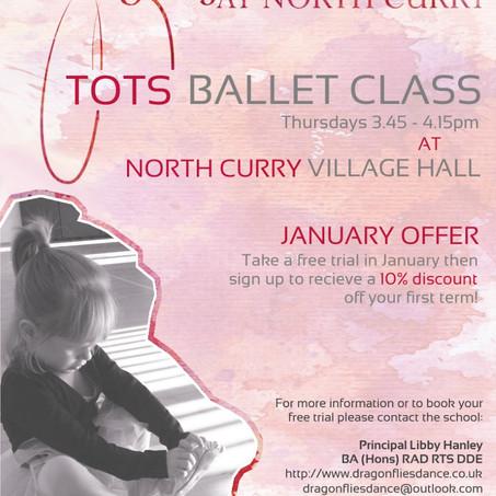 Tots Ballet Thursday's January Offer