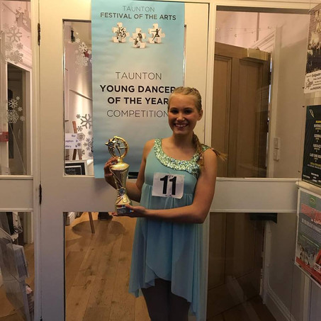 Congratulations Evie - Taunton Young Dancer of the Year!