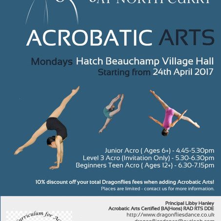 New Acrobatic Arts Classes Starting After Easter!