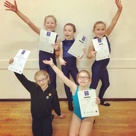 Excellent Modern Theatre, Jazz and Tap Examination Results (Imperial Society of Teachers of Dancing)