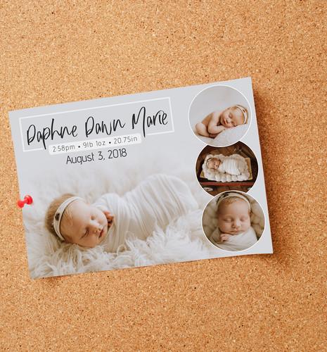 Birth Announcement Render
