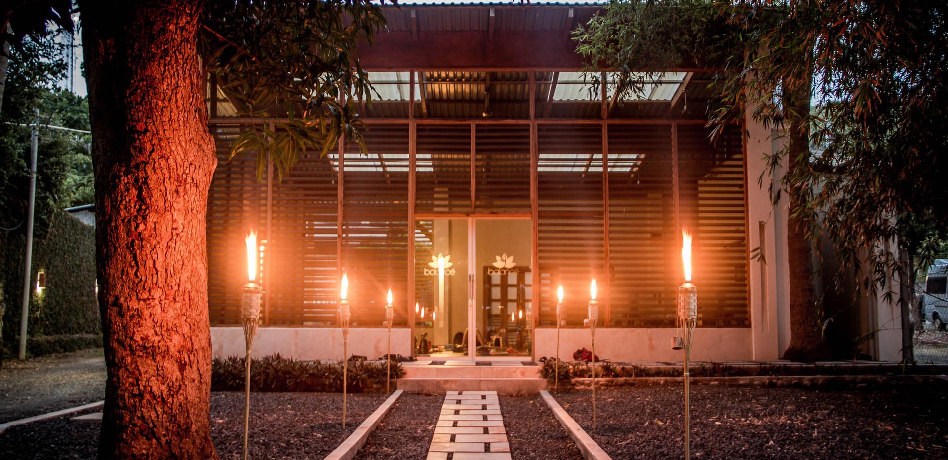 B Yoga - Balance studio facade with torc