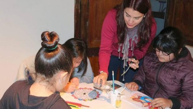 Taller de Arteterapia para niños en la Casa de la Cultura