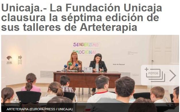 La Fundación Unicaja clausura la séptima edición de sus talleres de Arteterapia