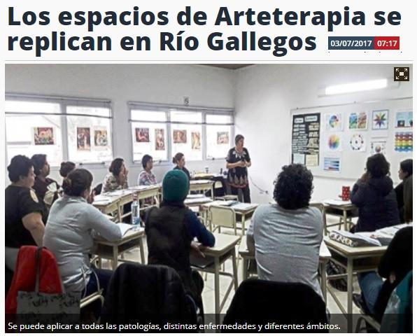 Los espacios de Arteterapia se replican en Río Gallegos