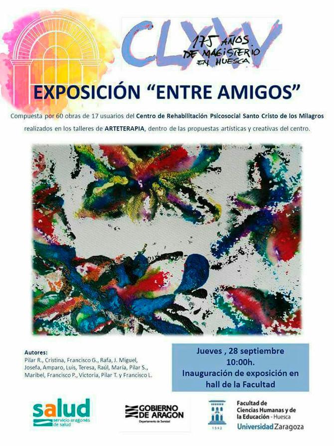 Exposición de Arteterapia en la facultad de Magisterio de Huesca.