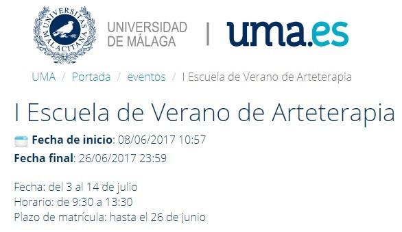 I Escuela de Verano de Arteterapia