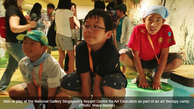 Healing art for Fukushima's miracle kids
