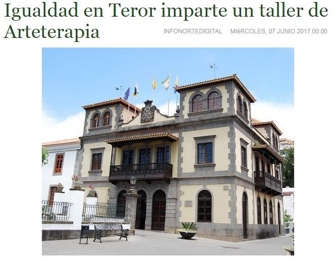 Igualdad en Teror imparte un taller de Arteterapia