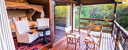 Luxury Tented Camp on Stilts in the Madikwe Game Reserve.