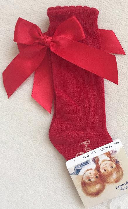 Pretty Originals Red Bow Socks