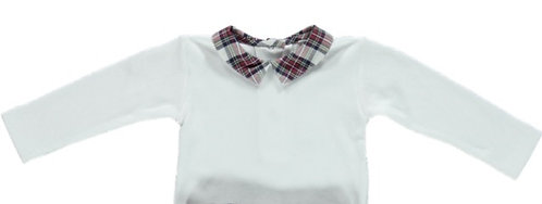 DOT Laurenco Baby Body with Plaid Collar