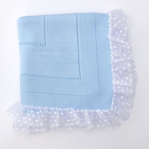 Granlei Blue Lace Edge Blanket