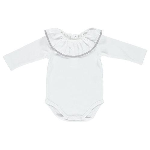 DOT White with Grey Gabriela Bodysuit