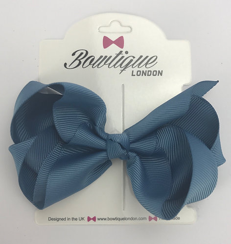 Antique Blue 4 inch bow