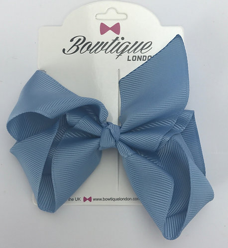 French Blue 4 inch bow