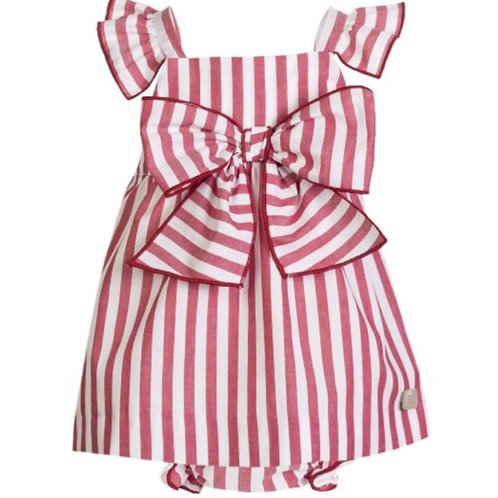 Eve Red Stripe Two Piece Outfit