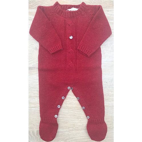 Wedoble Burgundy Chunky Knit All in One 08346L