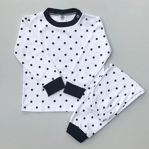 Minhon Navy Spot Pyjamas