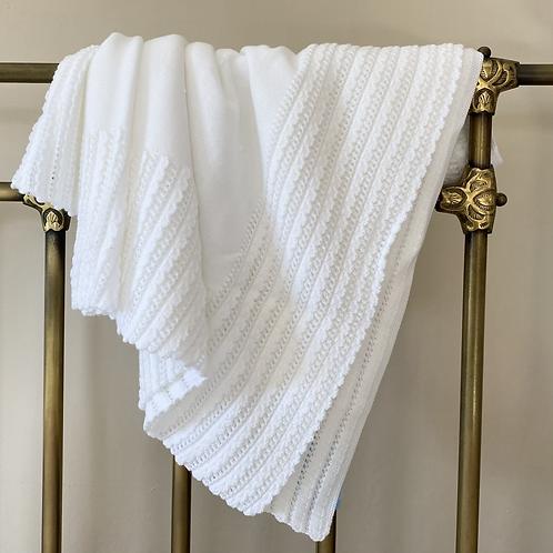 Granlei White Baby Blanket