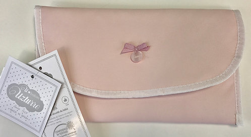 Uzturre PInk Leatherette Wet Wipes Bag