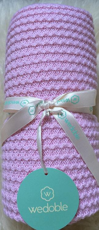 Wedoble Pink Knit Blanket