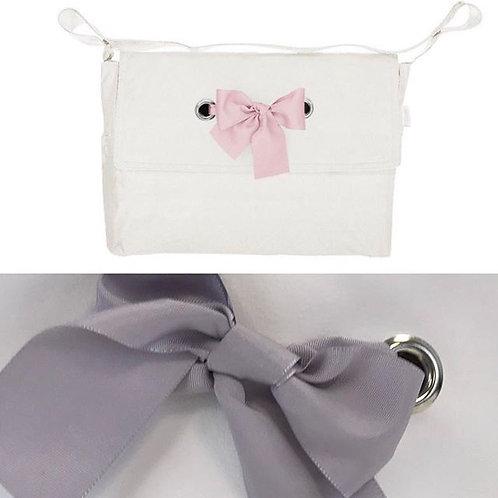 Uzturre Grey Bow Pushchair Bag
