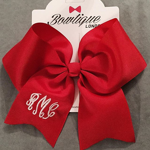 Red Cheerleader 8 inch bow