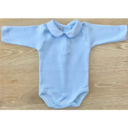 Babidu  Peter Pan Collar Body - Baby Blue