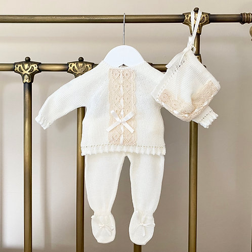 Ivory and Beige Baby Set