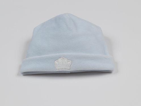 Kissy Kissy Blue Velour Crown Hat