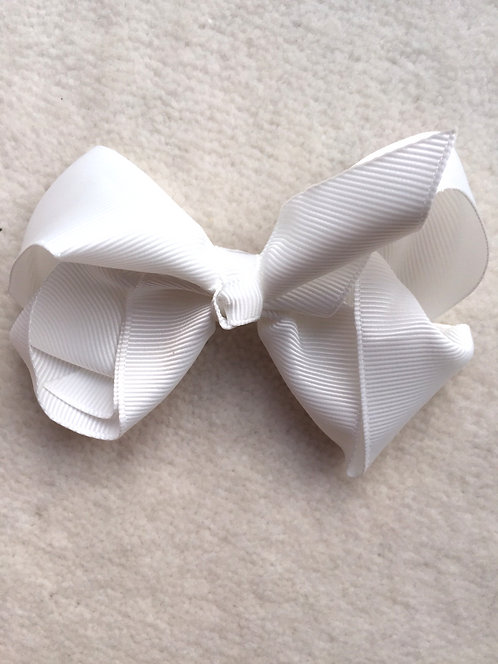 Off White 4 inch bow