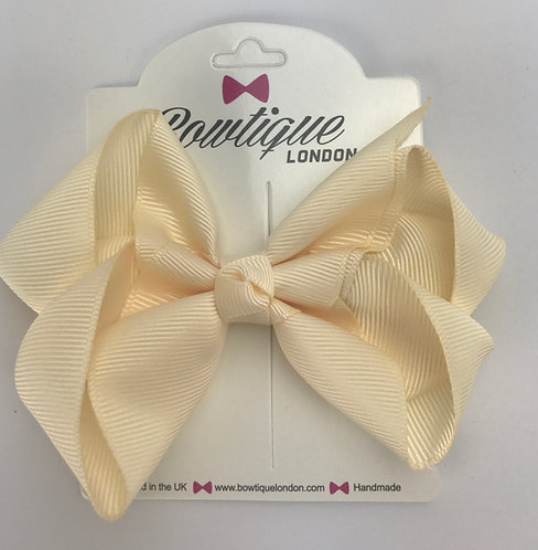 Cream 4 inch bow