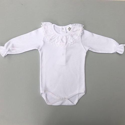 Minhon White Crochet Edge Body
